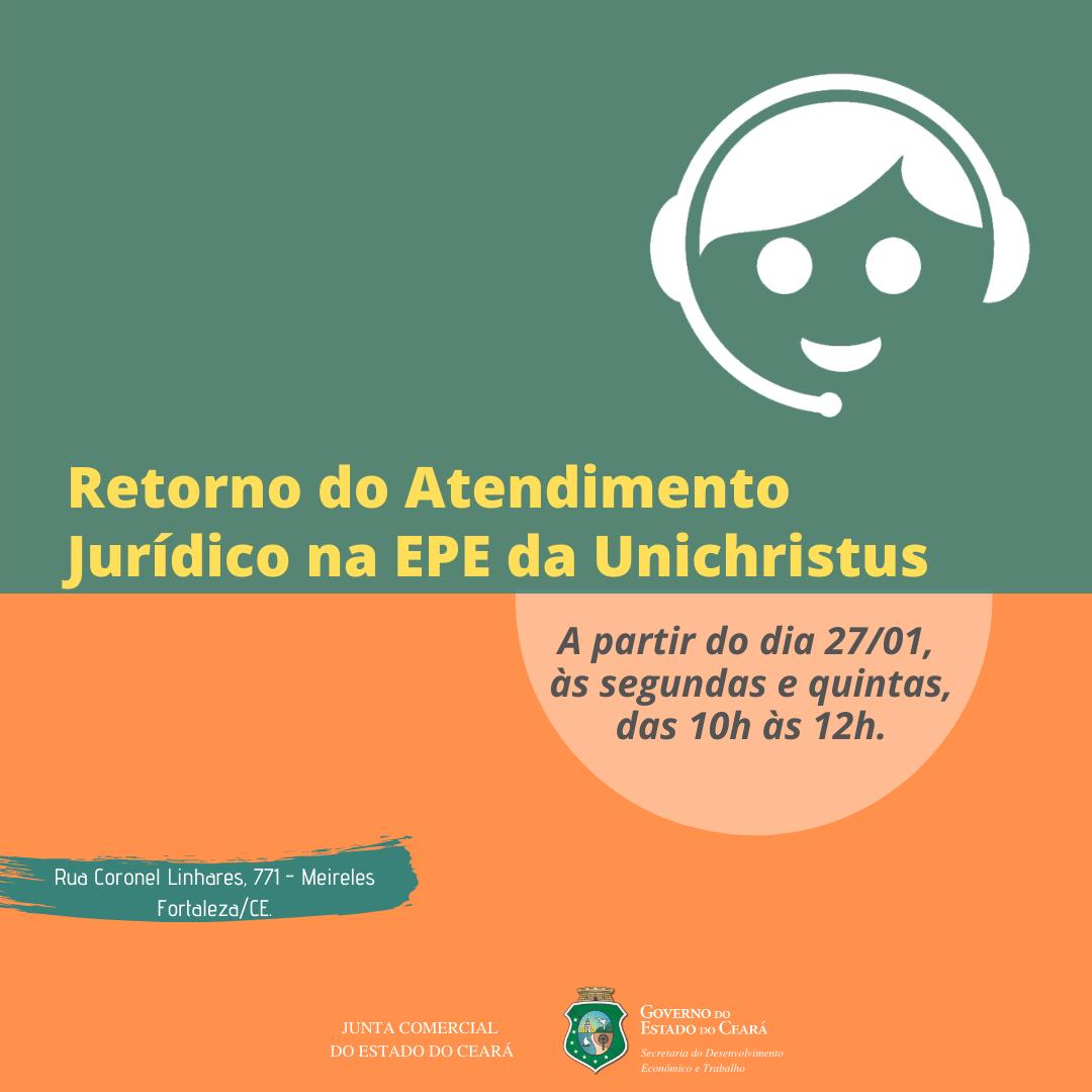 Atendimento jurídico no EPE Unichristus volta a funcionar nesta segunda (27/01)