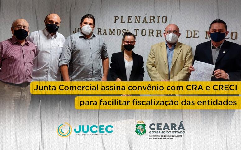 Junta Comercial assina convênio com CRA e CRECI para facilitar fiscalização das entidades